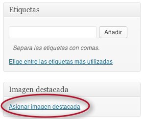 Enlace en WordPress 3.5: