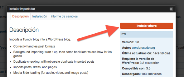 Cómo transferir un blog de Tumblr a WordPress