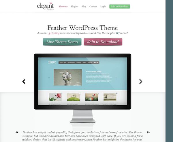 Elegant Themes: Feather WordPress Theme - Mvkoen